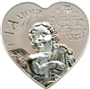 2013 1000 Francs CFA Heart of Love (Cameroon) - Sterling Silver Coin