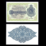 Falkland Islands 1 Pound 1982 Elizabeth II 15.6.1982. Signature H. T. Rowlands. AU-55