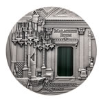 Fuji fine silver 2013 -  10 Dollars Malachite Room - St. Petersburg .999 Fineness