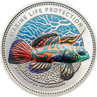 2013 $5 Marine Life Protection: Synchiropus splendidus - Stering Silver Coin