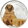 2014 $5 History of Egypt: Sphyinx (Cook Islands) - Sterling Silver Coin