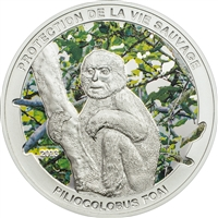 2013 1000 Francs CFA Piliocolobus Foai (Central African Rep.) - Sterling Silver Coin