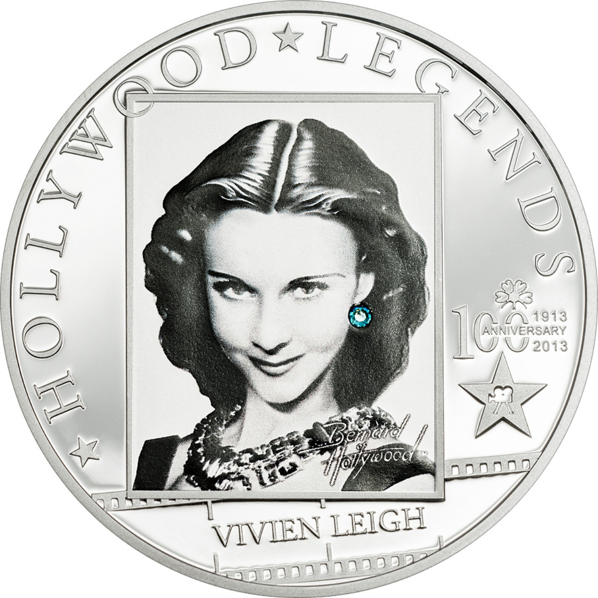 Cook Islands 2010 $5 Hollywood Legends I Clark Gable 25g Silver Proof Coin