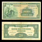 Germany 20 Mark 1949 Issued note F-12