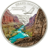2014 $5 Spectacular Landscapes: Grand Canyon (Cook Islands) - Sterling Silver Coin