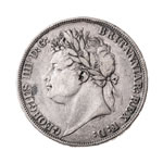 Great Britain silver 1821 -  Crown George IV F-15