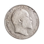 Great Britain silver 1902 -  1/2 Crown Edward VII F+