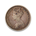Great Britain Florin 1858 Victoria VF-20