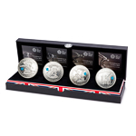 Great Britain 2012 5 Pounds Silver Proof Set - Countdown to 2012