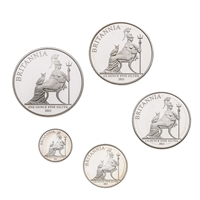 Great Britain 2013 2 Pounds Silver Proof Set - The 2013 Britannia Collection