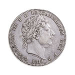 Great Britain silver 1819 -  Crown George III VF+