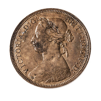 Great Britain Bronze 1891 -  Half Penny Victoria EF-40