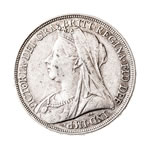 Great Britain silver 1895 -  Crown Victoria   LIX EF