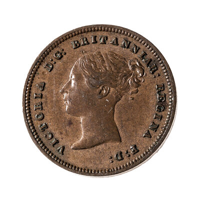 Great Britain 1843 -  1/2 Farthing Victoria EF-45