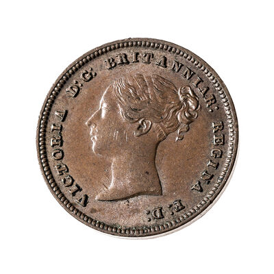 Great Britain 1844 -  1/2 Farthing Victoria AU-55
