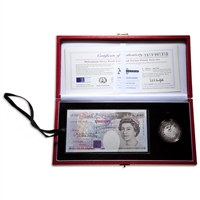 Great Britain 2000 5 Pounds Proof Set - Coin and 20 Pound Banknote Set