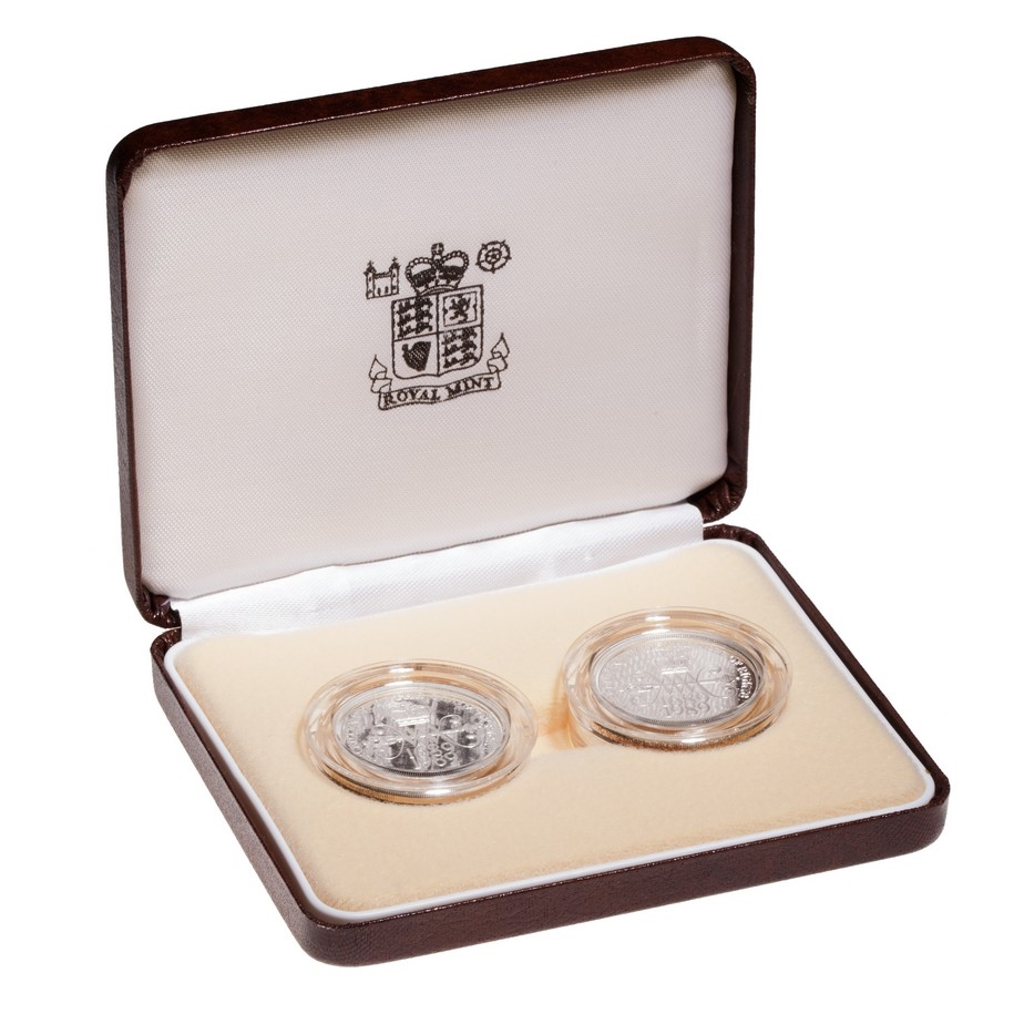 Great Britain 1989 2 Pounds Silver Proof Set