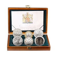 Great Britain 2005 -  2 Pound Allied Forces Silver Proof Collection