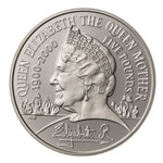 Great Britain 2000 5 Pounds Silver Proof - Silver Piedfort Centenary Crown