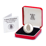 Great Britain 1988 1 Pound Silver Proof Coin - Piedfort