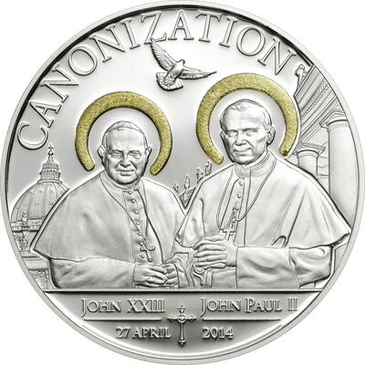 2014 1000 Shillings Canonization of the Popes - Sterling Silver Coin