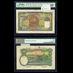 Hong Kong 100 Dollars 1934 George VI Signature at right printed VF-30 PMG