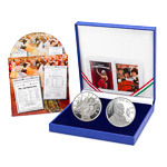 Hungary 2008 Fine Silver Proof Set - Imre/Strauss 2 Medallion/CD Set