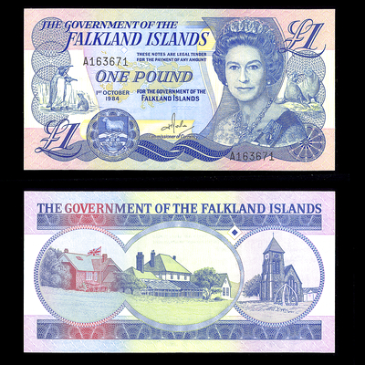 Falkland Islands 1 Pound 1984 Elizabeth II Issued note AU-55