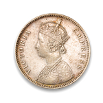 India-British Rupee 1884 Victoria VF-30
