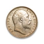 India-British Rupee 1906 Edward VII VF-30