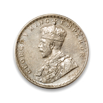 India-British Rupee 1918 George V EF-40