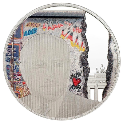 2014 $5 25th Anniversary of the Fall of the Berlin Wall - Pure Silver Coin