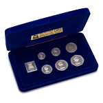 Isle of Man 1977 50 Pence Silver Proof Set