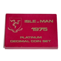 Isle of Man 1975 50 Pence Platinum Proof Set - Platinum Coin Set