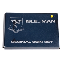 Isle of Man 1976 50 Pence Platinum Proof Set - Platinum Coin Set