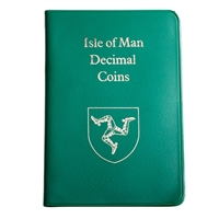 Isle of Man 1975 50 New Pence Unc Set - Green Wallet