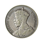 New Zealand 1/2 Crown 1933 George V EF-40