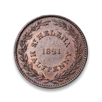 Saint Helena & Ascension 1/2 Penny 1821 EF-40
