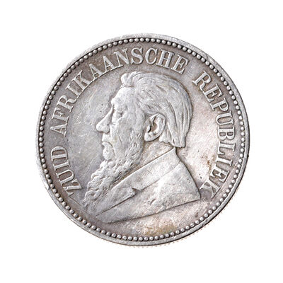 South Africa Silver 1897 -  2 1/2 Shillings VF-30