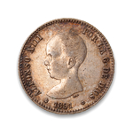 Spain 1 Peseta 1891 PG-M VF-20