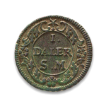 Sweden Daler 1718 Carl XII Emergency Coinage EF-40