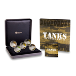Tuvalu 2010 1 Dollar Fine Silver Proof Set - Tanks of World War II