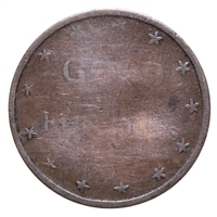 United States of America 1865 -  25 Cent Miners Brewery & Bakery Token VG+