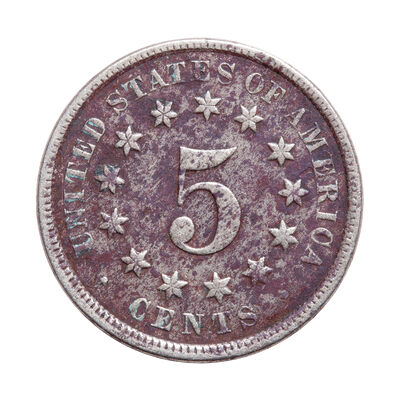US 5 Cent 1876 Shield Nickel F-15