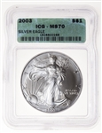 US $1 2003 Silver Eagle ICG MS-67