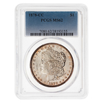US $1 1878CC PCGS MS-62