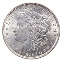 US $1 1921 Severe Die Cracks obv and rev MS-63