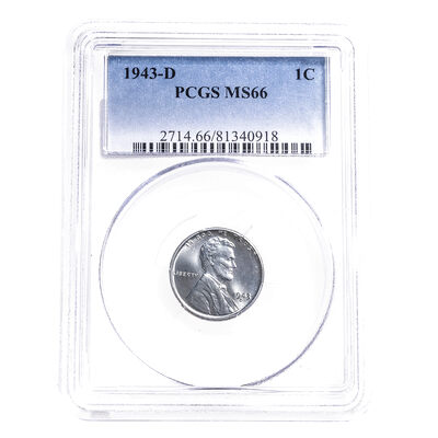 US 1 Cent 1943 PCGS MS-66