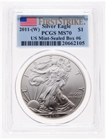 United States of America fine silver 2011W Eagle -  $1 First Strike PCGS