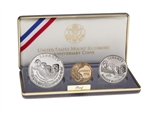United States of America 1991 Set - Mount Rushmore Golden Anniversary - 3 Coin set with Gold $5 coin